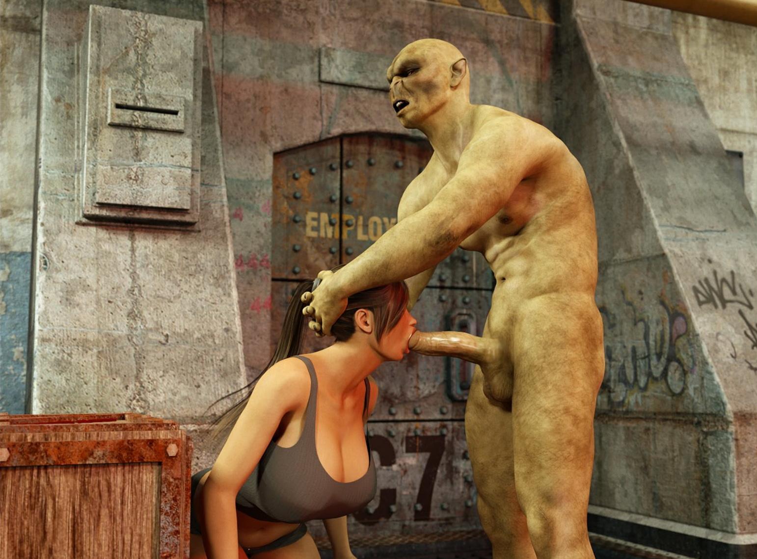 Lara croft tied tube fucked pornostar